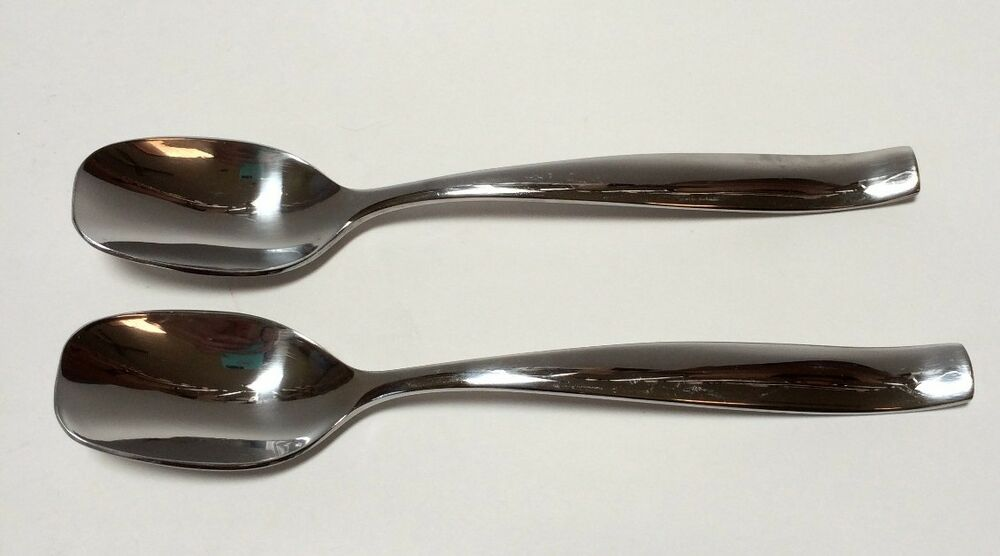 2 gourmet settings sunset place soup spoons 18 c flatware curved handle ebay - Gourmet settings silverware ...