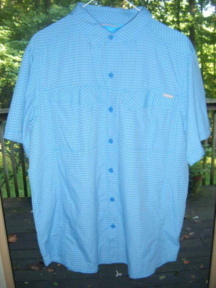 Mens columbia omni shade sun protection vented ss button for Custom sun protection shirts