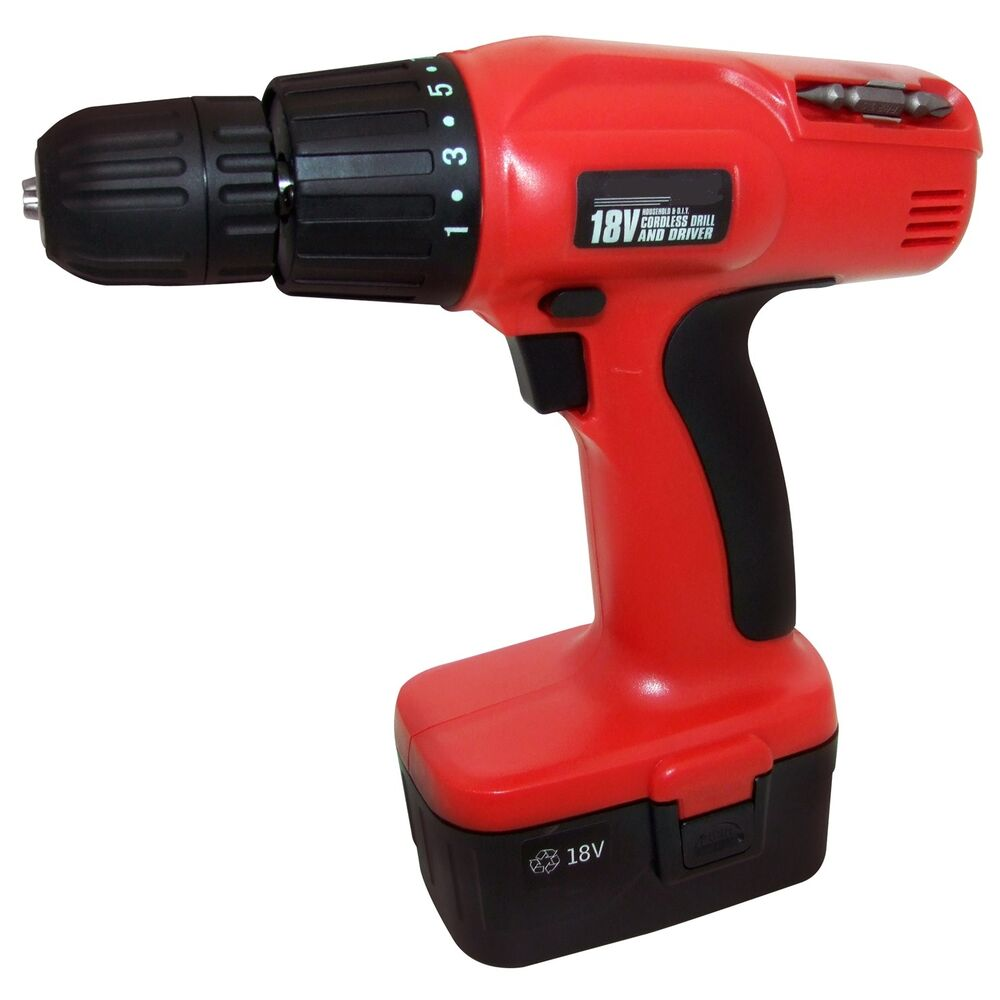 HEAVY DUTY 18V CORDLESS DRILL DRIVER SCREWDRIVER WITH ...