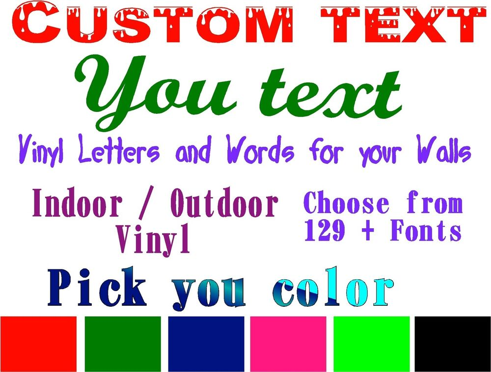 Custom Text Decal Personalized Vinyl Quote Customized