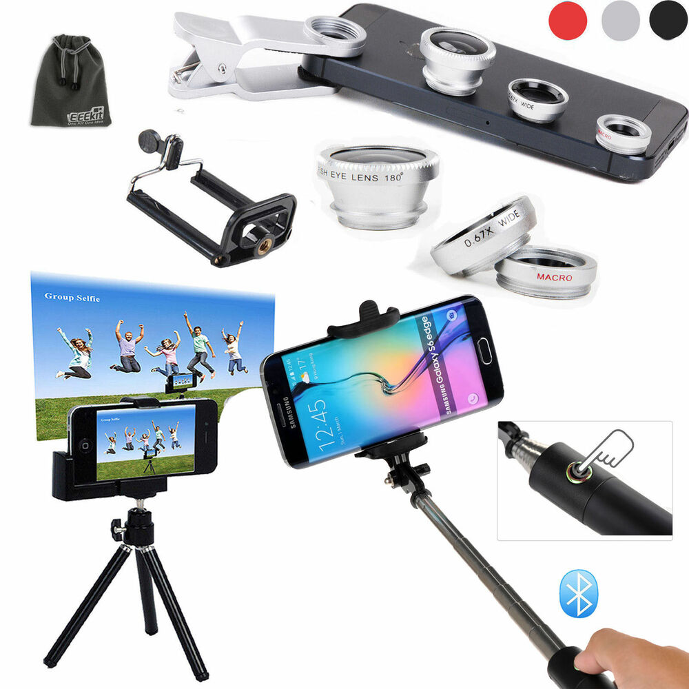 eeekit bluetooth selfie stick pole monopod tripod mount lens photo kit for phone ebay. Black Bedroom Furniture Sets. Home Design Ideas