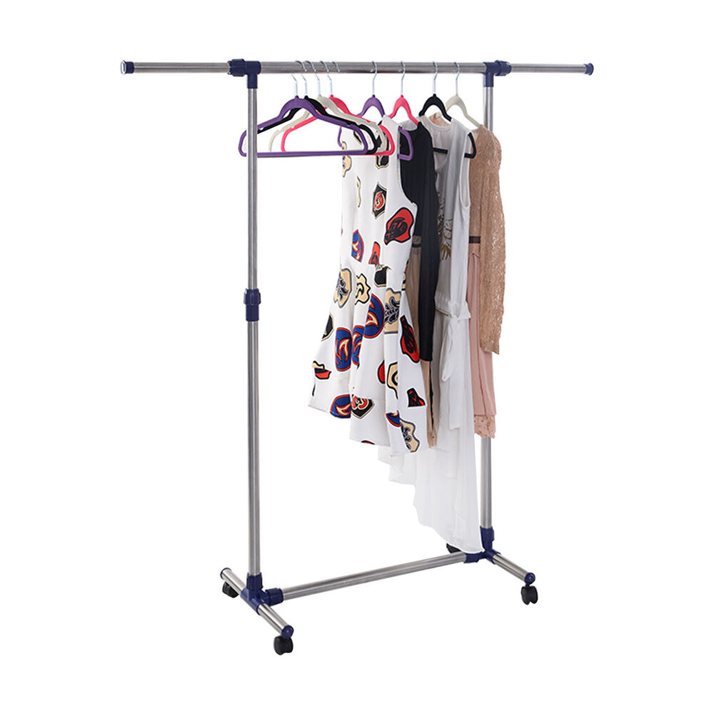 Heavy Duty Rolling Adjustable Portable Clothes Hanger