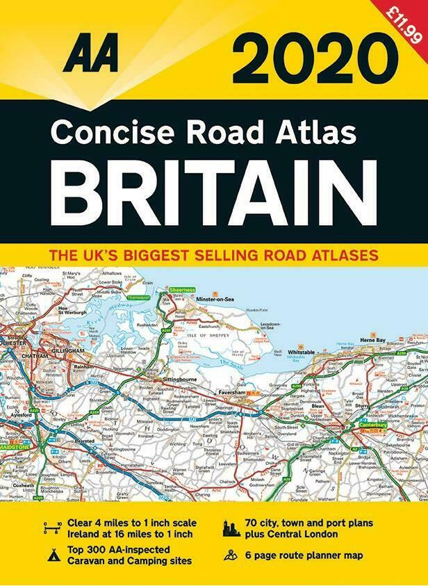 aa 2019 concise road atlas britain spiral bound road map ebay