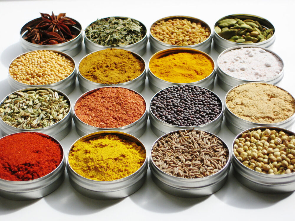 Whole and ground spices masala and seeds for indian for 4 spice indian cuisine