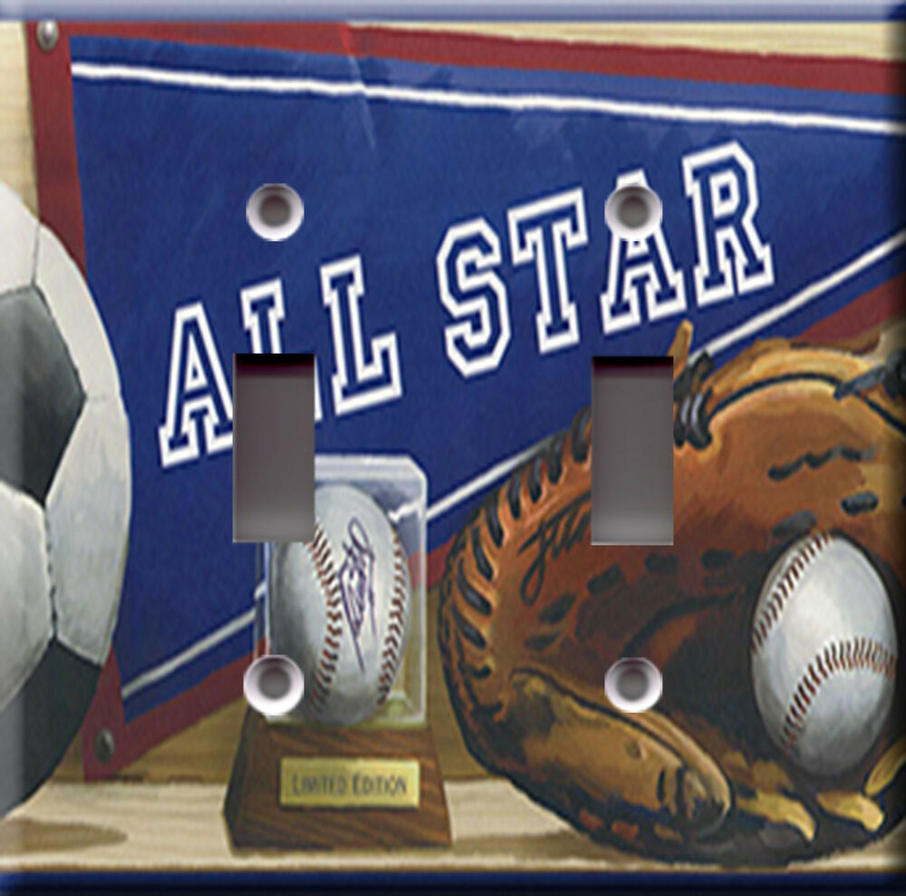 Light Switch Plate Cover All Star Sports Soccer