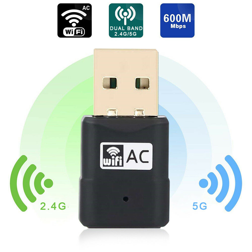 USB WiFi Adapter 600Mbps Dual Band 2.4G/5G Wireless WiFi Dongle Network Card | eBay