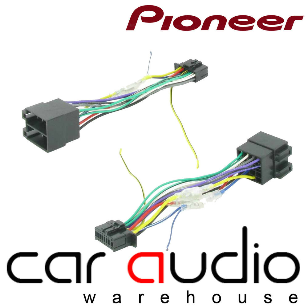 Wiring Harness To Car Stereo : Pioneer pin iso head unit replacement car stereo wiring