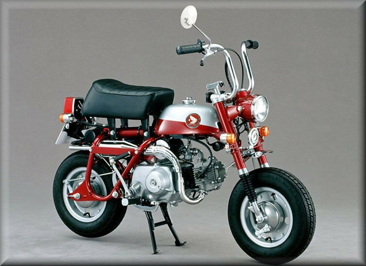 1969 honda mini trail z50a red flat flexible. Black Bedroom Furniture Sets. Home Design Ideas