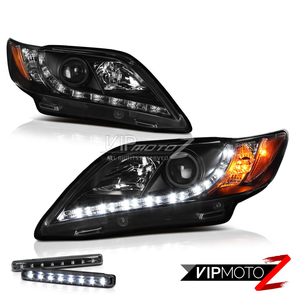 led light bar kit black drl projector headlight 2007 09 toyota camry le se ebay
