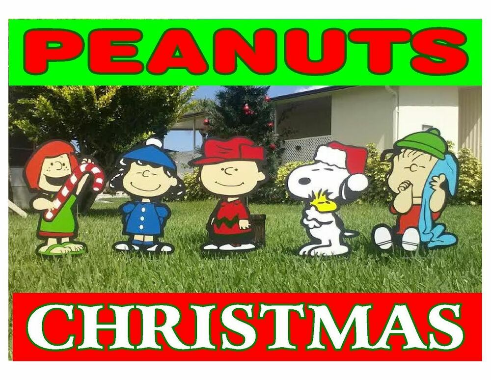 Peanuts outdoor christmas decorations ebay for Christmas lawn decorations