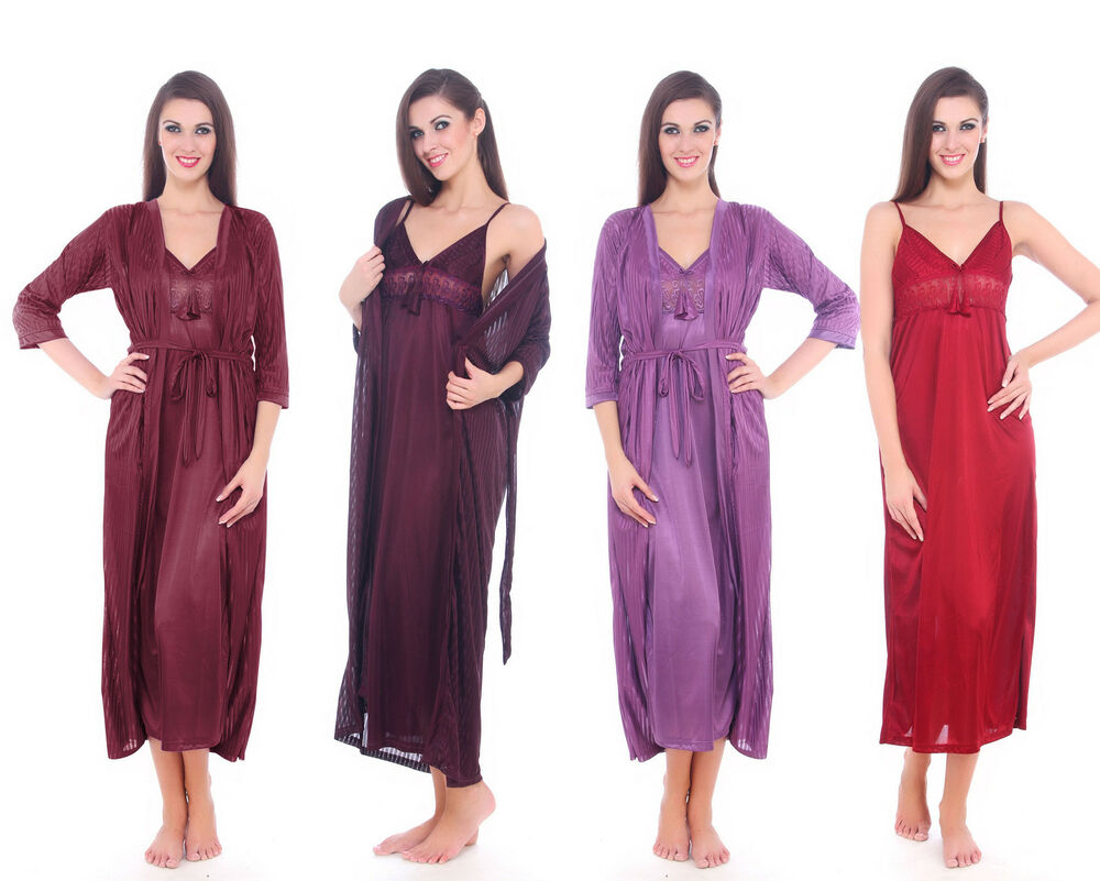 LADIES SATIN LONG CHEMISE WOMENS NIGHTDRESS NIGHTIE SLIP