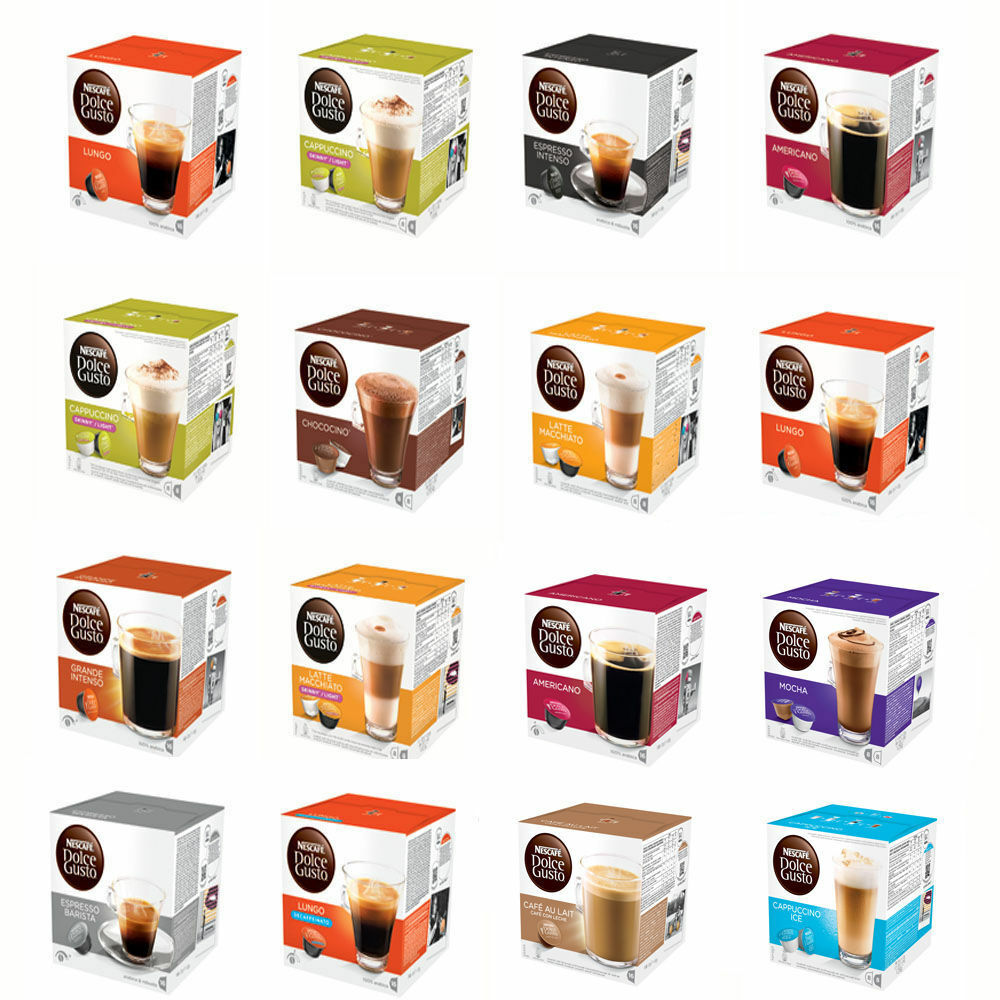 48 dolce gusto coffee pods 3x16 pods mix 39 n 39 match your favourites - Range capsule dolce gusto ...