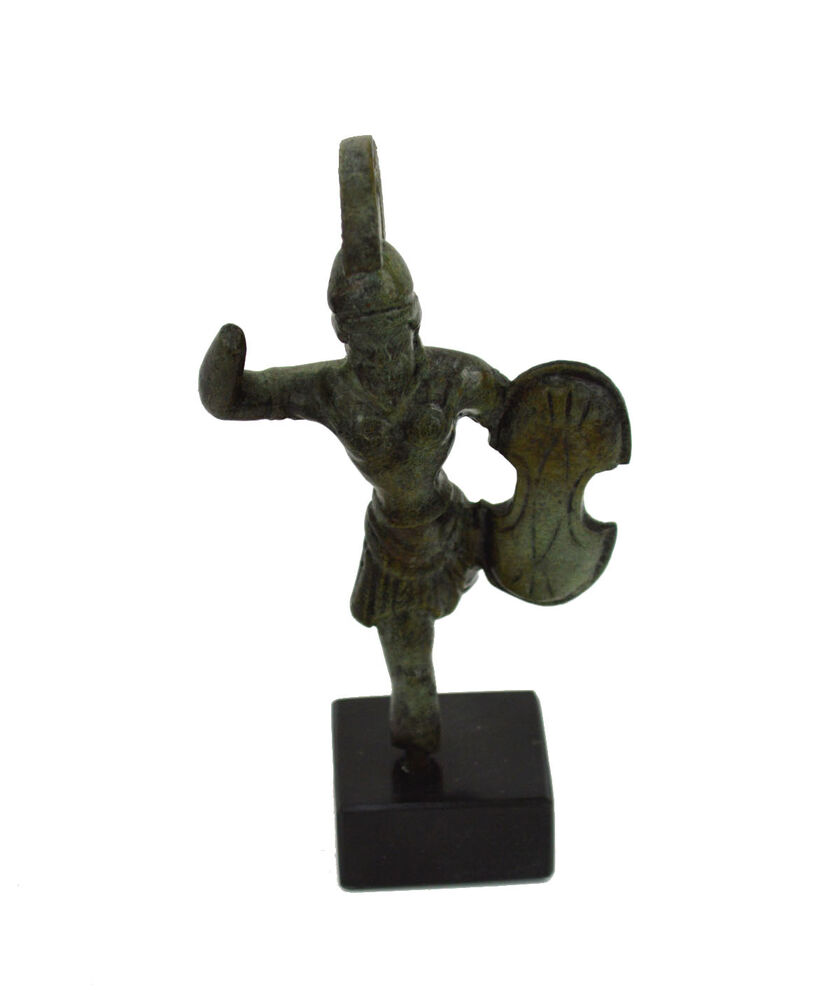 Ancient Greek Warrior statue miniature Organized and ...