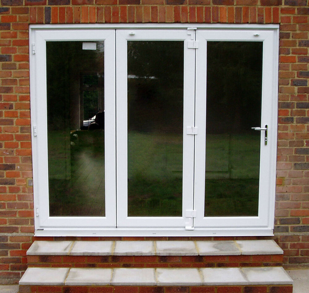 upvc bifold door 2 7m wide supply fit 3 pane ebay