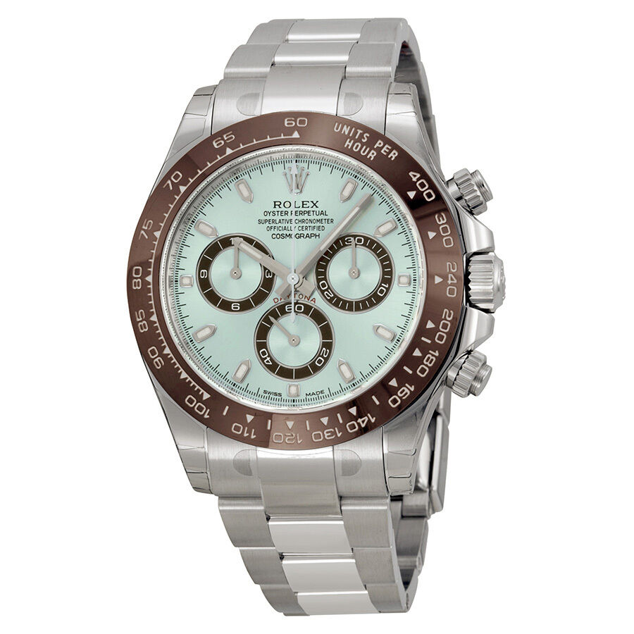 rolex cosmograph daytona ice blue dial platinum mens watch 116506iblso ebay