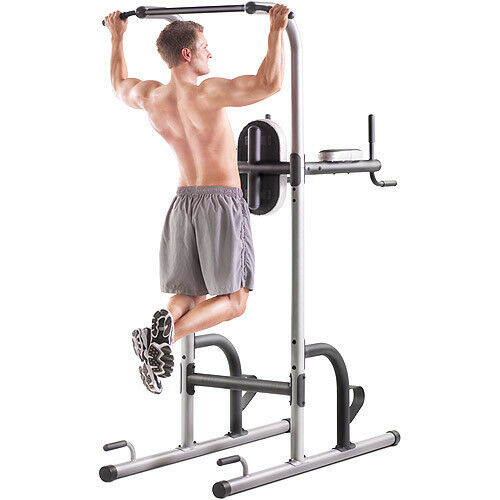 new power tower multi station gym push pull up dip flex. Black Bedroom Furniture Sets. Home Design Ideas