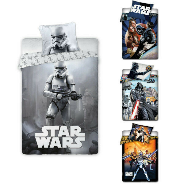 star wars clone wars bettw sche bed linen luke skywalker lord vader yoda ebay. Black Bedroom Furniture Sets. Home Design Ideas