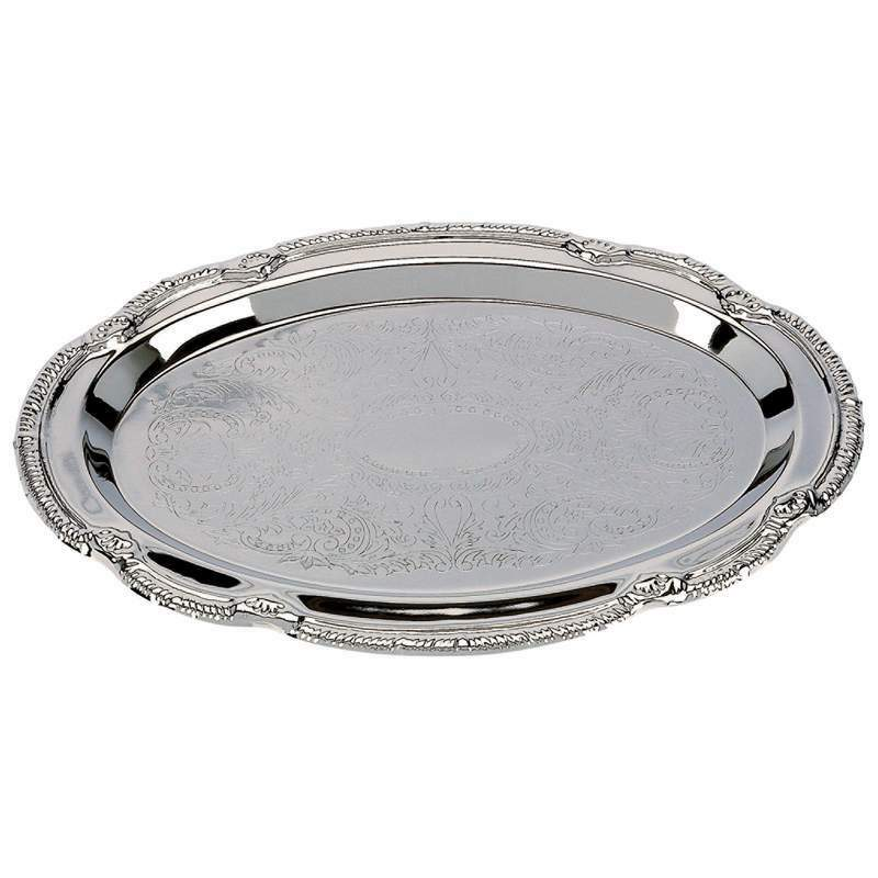 new silver finish petite serving trays wedding catering party tray platter ebay. Black Bedroom Furniture Sets. Home Design Ideas