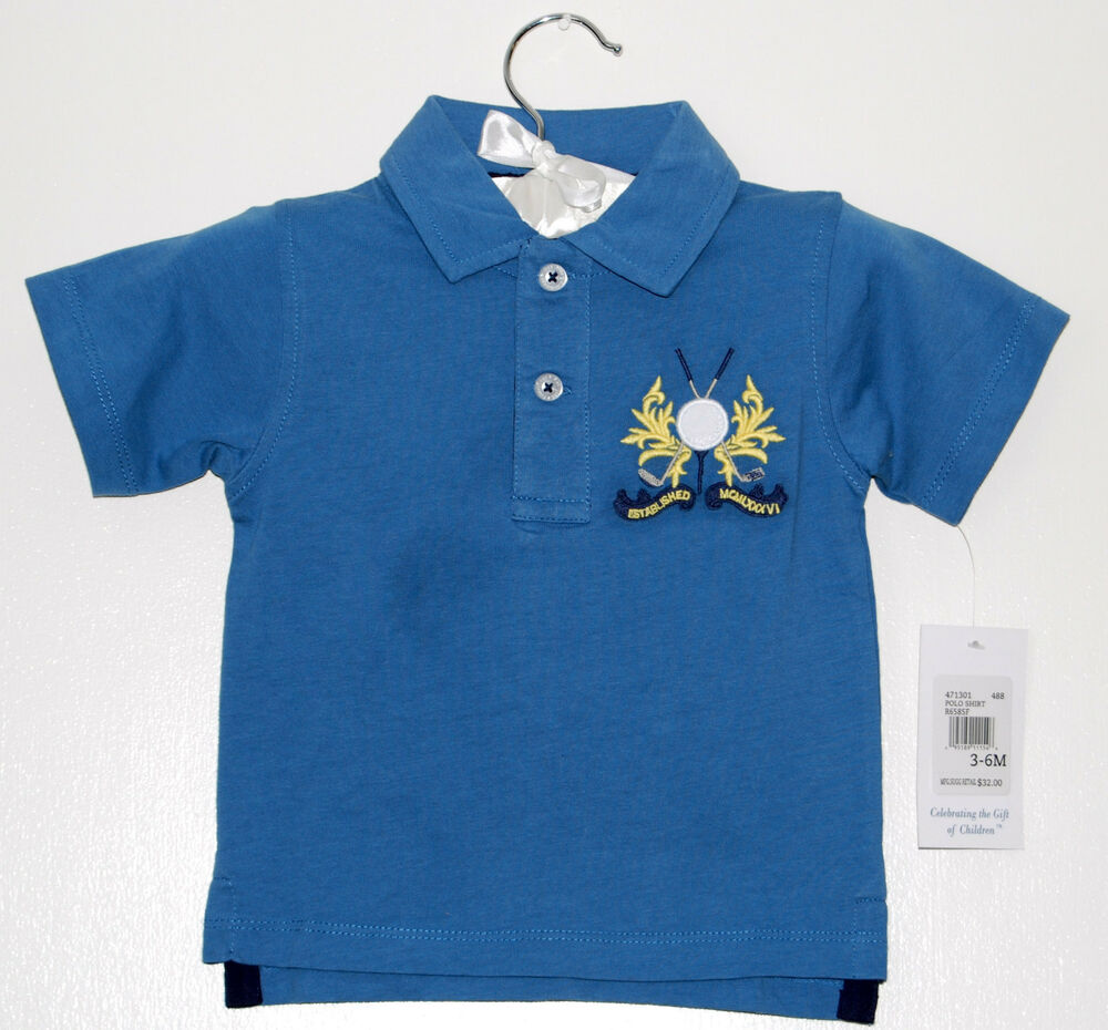 Nwt kitestrings infant toddler boys everyday sport logo for Toddler boys polo shirts
