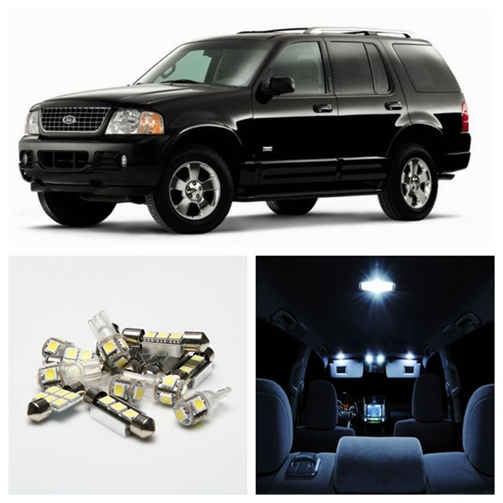 for 2002 2005 ford explorer 8pcs led interior package kit. Black Bedroom Furniture Sets. Home Design Ideas