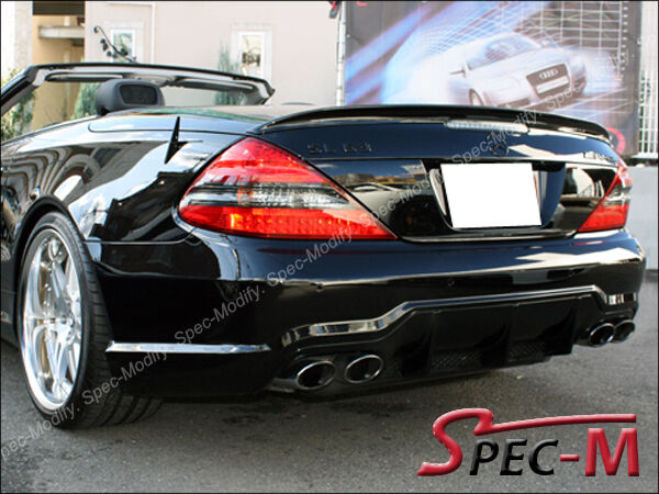 Painted 040 Black Sl63amg Look Trunk Wing Spoiler For 2003