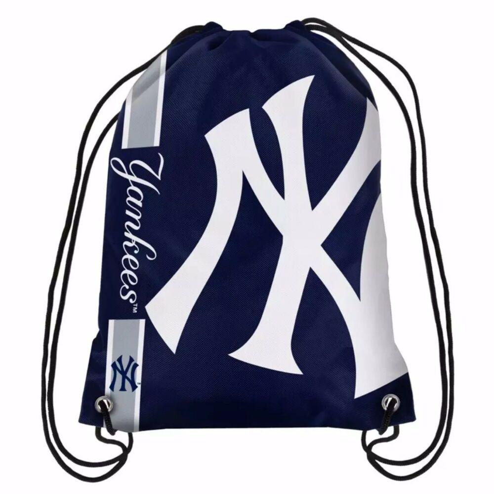 mlb new york yankees drawstring backpack ebay. Black Bedroom Furniture Sets. Home Design Ideas