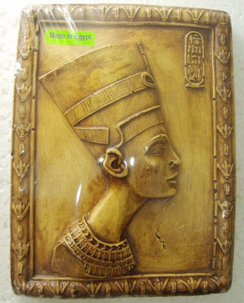 egyptian wall hanging plaque queen nefertiti decor pharaoh. Black Bedroom Furniture Sets. Home Design Ideas