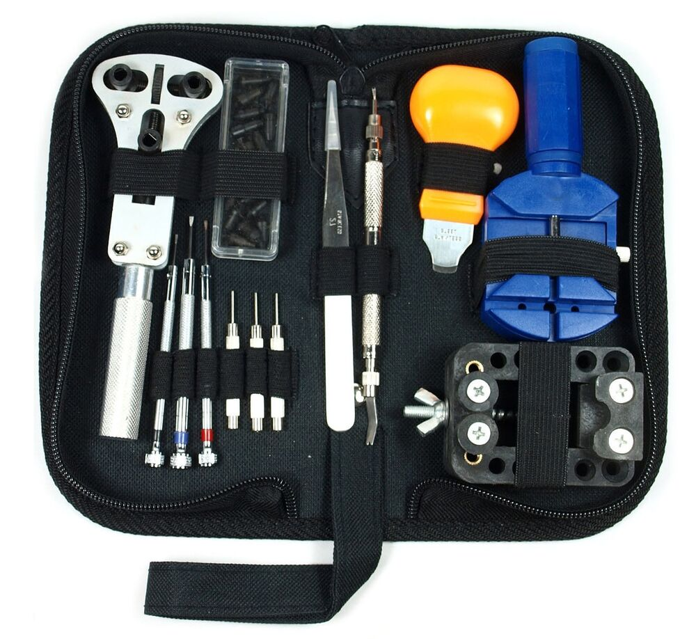 New Watch Repair Tool Kit Case Opener Link Remover Spring