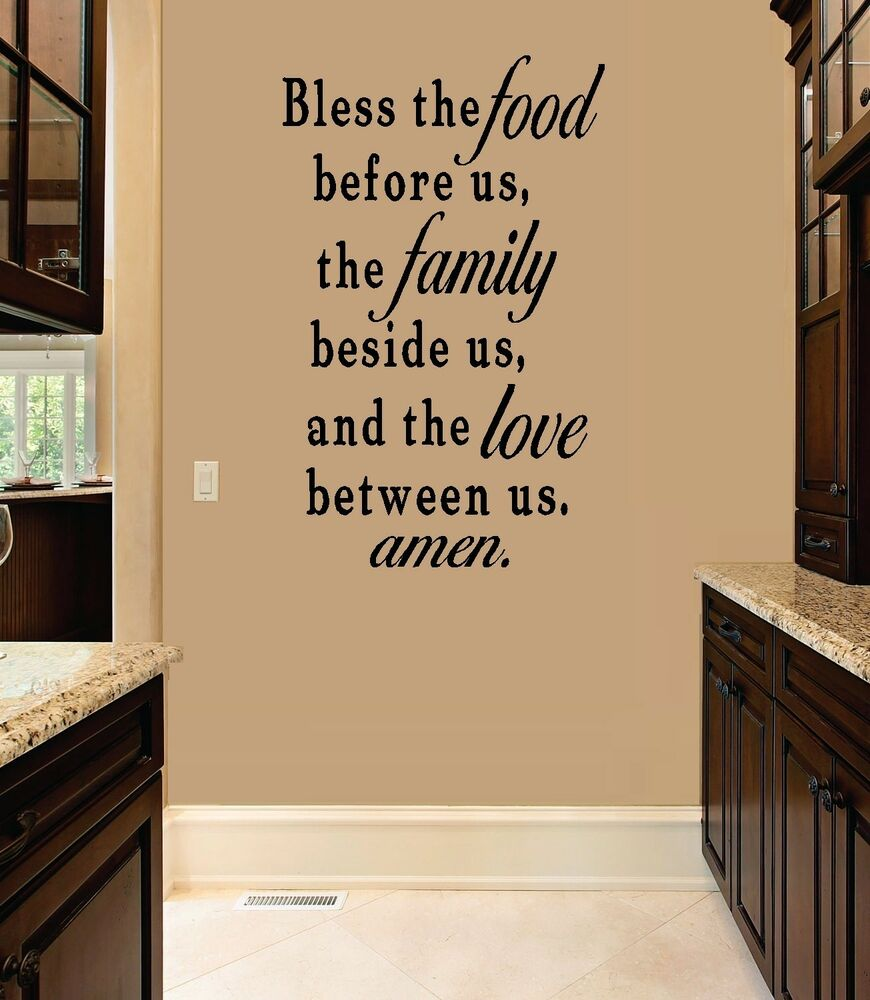 Bless The Food Before Us Wall Decal Ebay