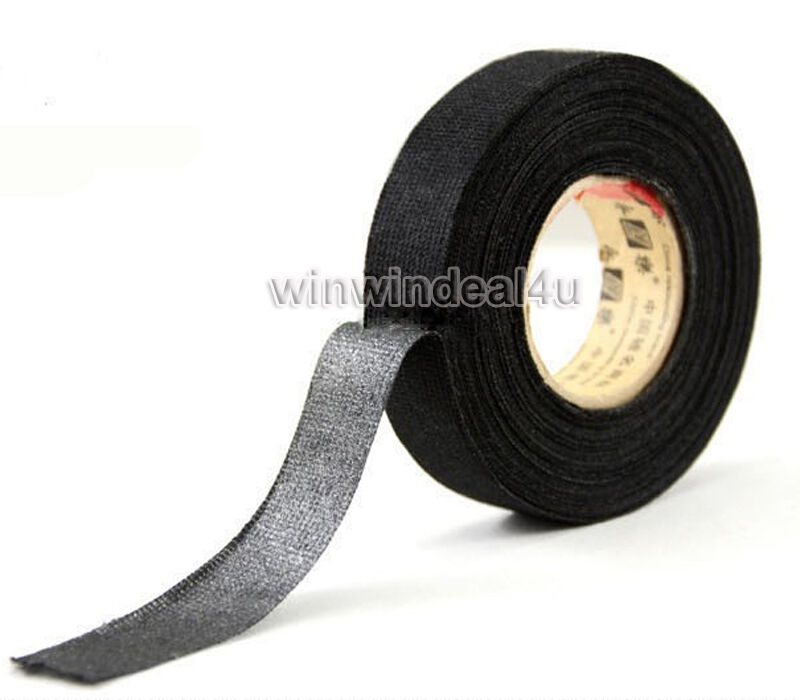 Fabric Wiring Harness Tape : Black linen adhesive fabric cloth wiring loom harness