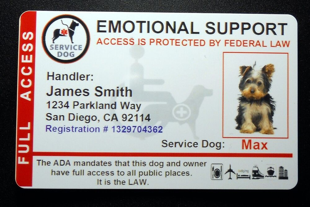 holographic emotional support animal id card service dog id badge 8 esa r ebay. Black Bedroom Furniture Sets. Home Design Ideas