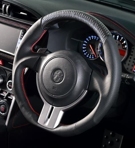 scion fr s toyota 86 gt86 steering wheel black leather x. Black Bedroom Furniture Sets. Home Design Ideas