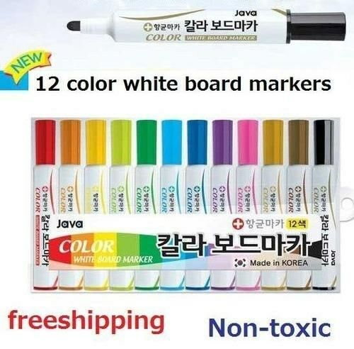 12 color set whiteboard markers pens white board dry erase marker normal nib ebay. Black Bedroom Furniture Sets. Home Design Ideas