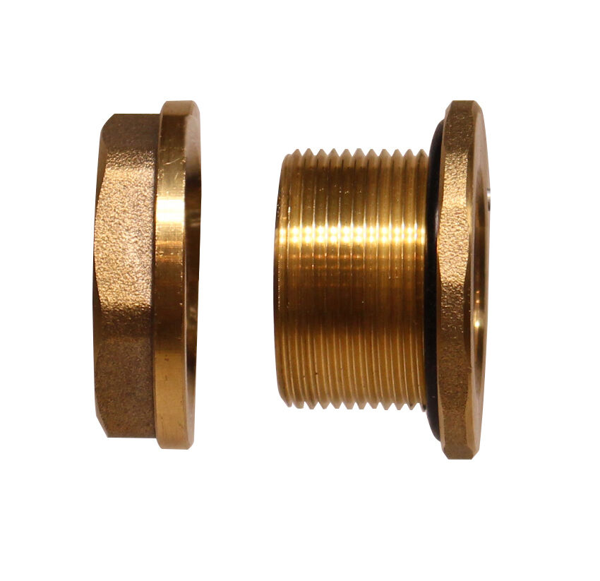 Rainpal bbf rh brass bulkhead tank fitting female