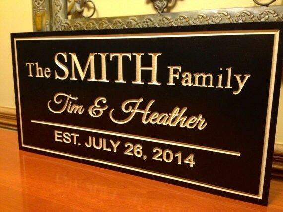 Wedding Gift Signs: Family Name Sign, Marriage Sign Custom Wedding Gift Custom