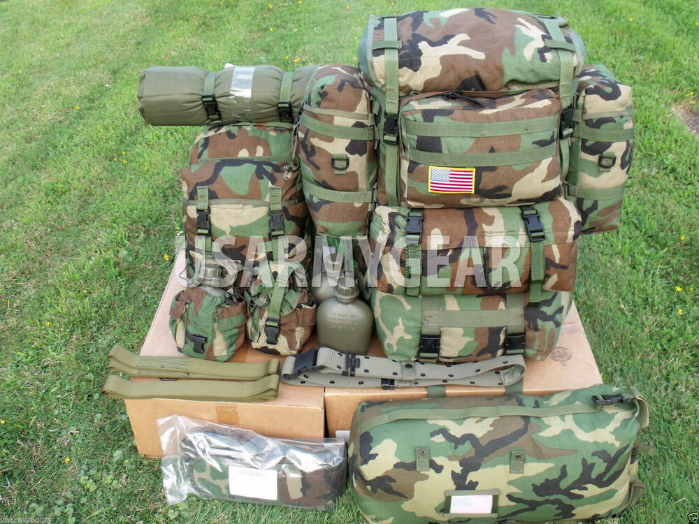 Us Army Molle 2 Large Ruck Sack Assault Back Pack Vest