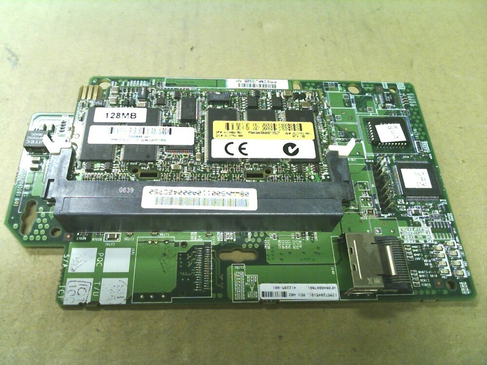 hp smart array e200i sas raid controller card 412205 001 128mb cache 413486 001 ebay. Black Bedroom Furniture Sets. Home Design Ideas