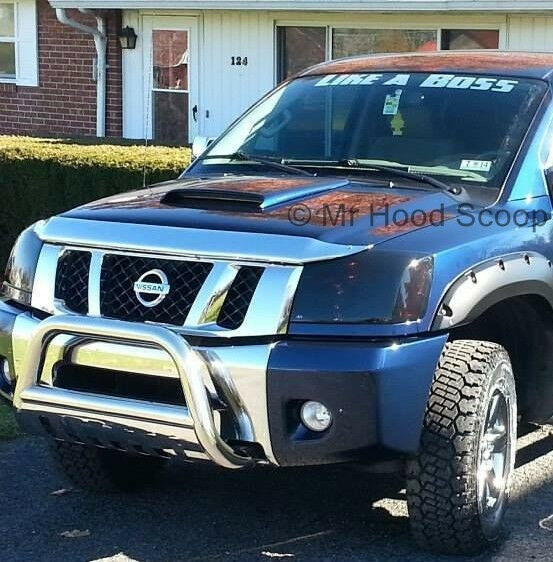 hood scoop kit for nissan titan pre painted hs003 ebay. Black Bedroom Furniture Sets. Home Design Ideas