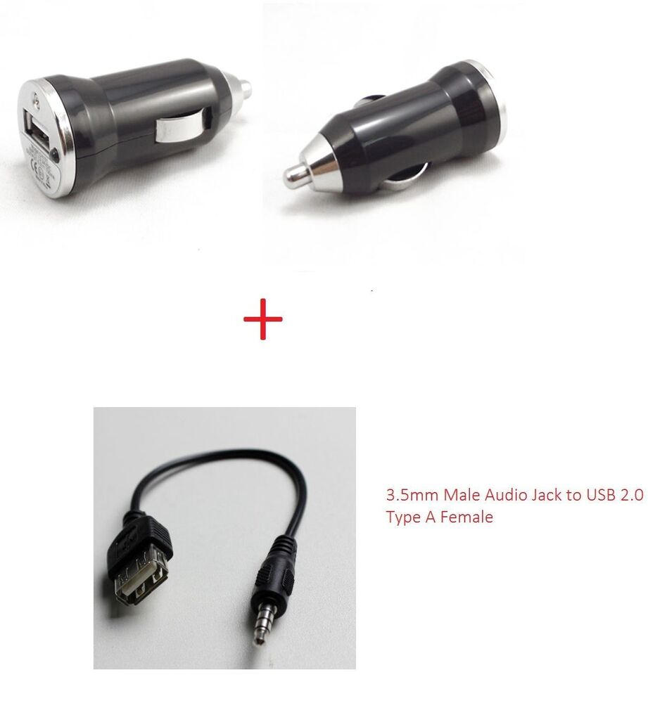 3.5mm Male Audio Jack To USB 2.0 Type A Female OTG Cable