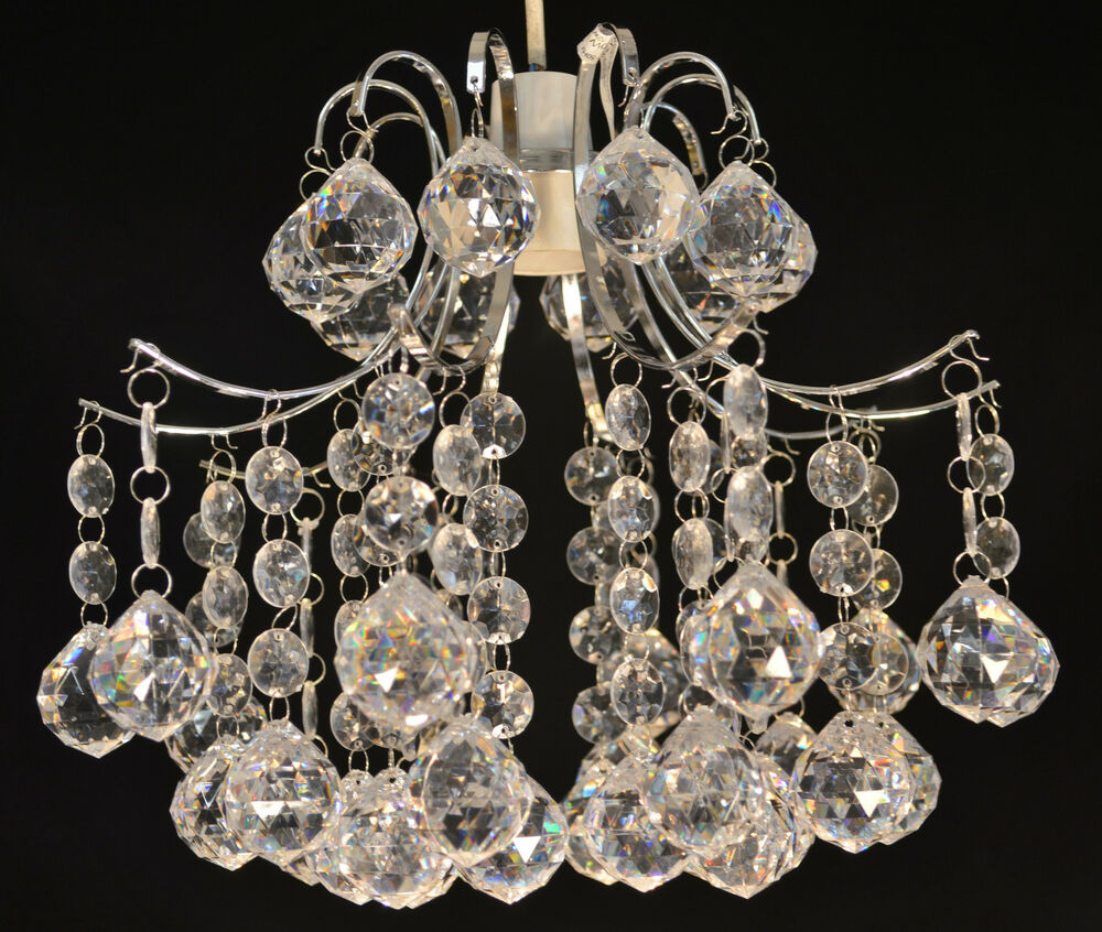 CHANDELIER NON ELECTRIC LIGHT SHADE CLEAR ACRYLIC