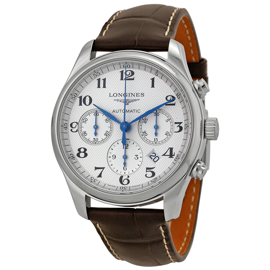 Longines master chronograph automatic silver dial mens watch l27594783 703200176574 ebay for Chronograph master