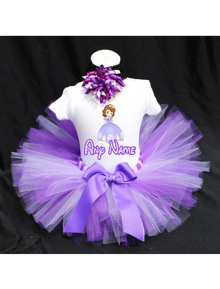 Sofia The First Tutu Outfit Birthday Custom Any Name Ebay