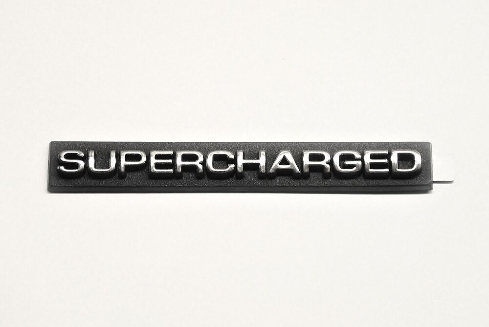 Supercharged Badge Mustang 302 Set Of 2 Ebay