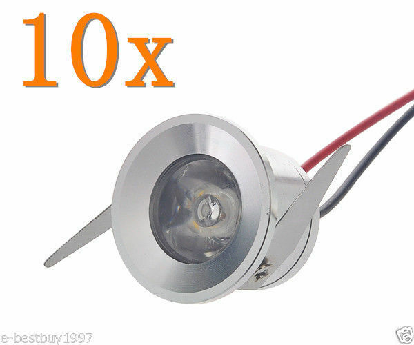 10 X 1w Led Recessed Small Cabinet Mini Spot Lamp Ceiling
