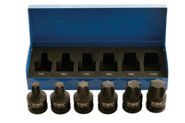 impact quality star torx socket bit set on 1 2 drive t55. Black Bedroom Furniture Sets. Home Design Ideas