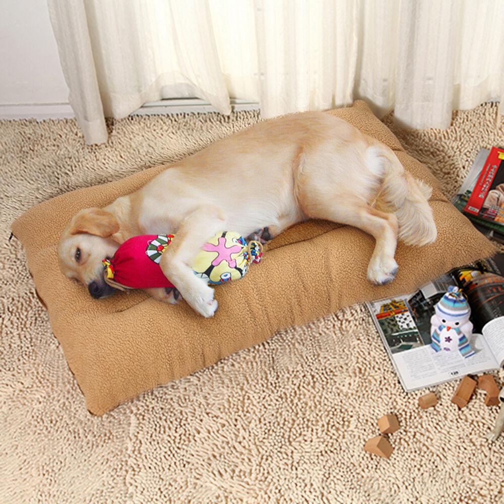Extra Large Warm Soft Fleece Puppy Pets Dog Cat Bed