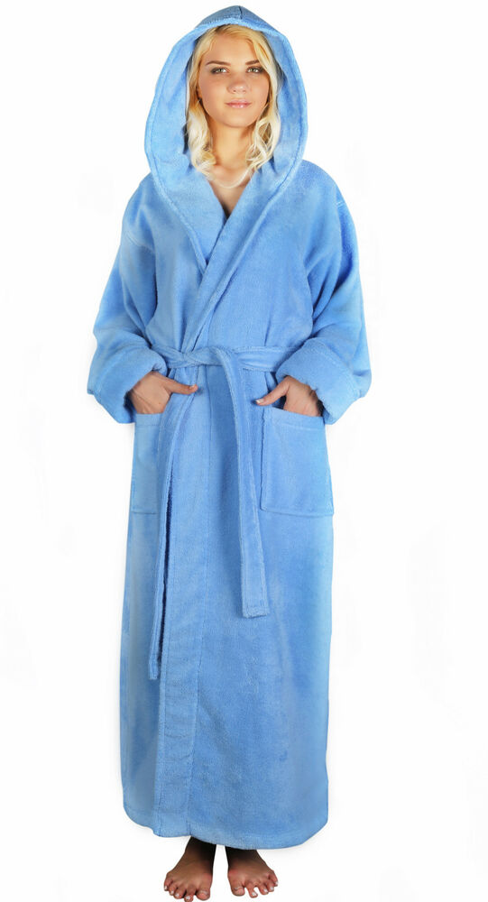 Womens Hooded Zero Twist Super Plush Hooded Long Turkish