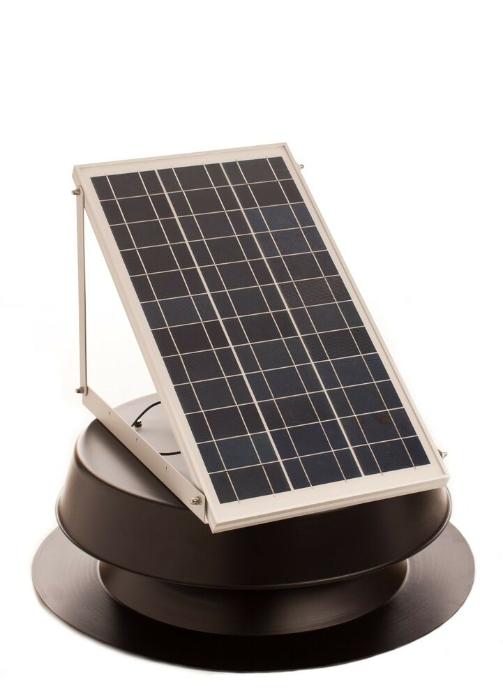 Solar Attic Fan 30 Watt Solar Panel W Thermal Switch Ebay