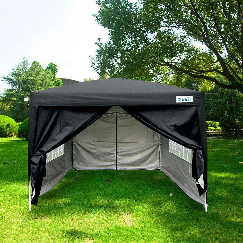 quictent silvox 8 39 x8 39 ez pop up canopy gazebo party tent. Black Bedroom Furniture Sets. Home Design Ideas