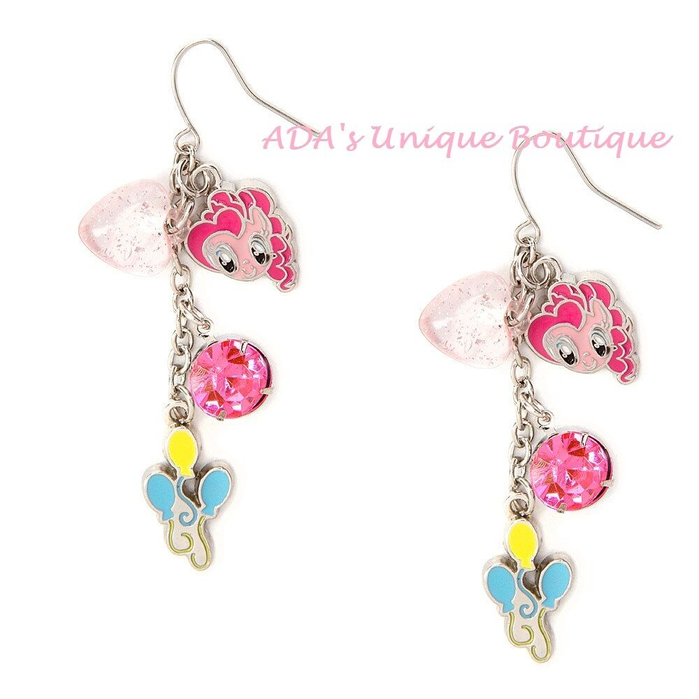 my pony earrings my pony pinkie pie charms mismatched drop earrings 1564